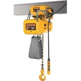 NER Electric Chain Hoist w/ Motor Trolley - 1/2 Ton, 15' Lift, 15 ft/min, 460V