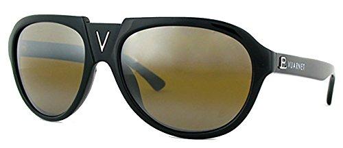 Vuarnet V Bridge Aviator Sunglasses VL 1106 Skilynx 085 Style (Black, - Vuarnet Glacier Sunglasses
