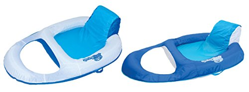 Lounge Pool Recliner - SwimWays Spring Float Recliner Floating Pool Lounge Chair (2 Pack)   13018