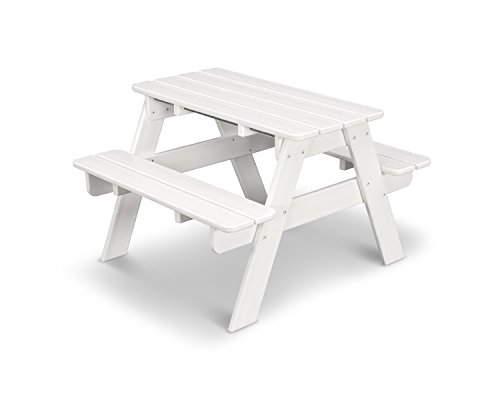 POLYWOOD KT130WH Kids Picnic Table, White