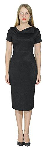 Marycrafts Womens Office Business Short Sleeve Pencil Midi Dress