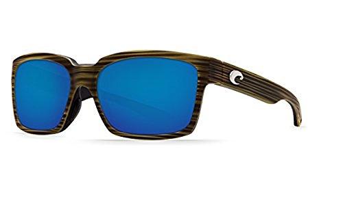 Costa Del Mar Playa Polarized Sunglasses Matte Verde Teak/Black Blue Mirror