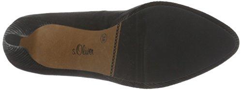 s.Oliver 22406, Zapatos de Tacón para Mujer Negro (BLACK 1)