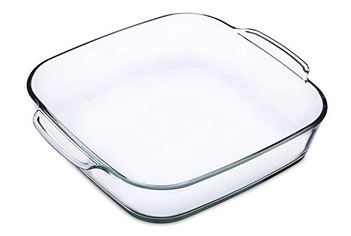 Simax Clear Glass Roaster   Heat, Cold and Shock Proof, Made in Europe, 1.5 Quart, Square