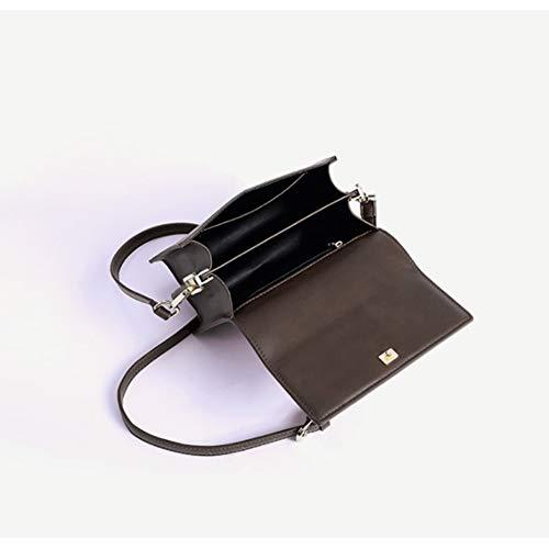 per in borsa donna per nera Piccola pelle tracolla Leathario tracolla Moda a zO4Hxnq0