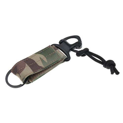 NATFUR Durable Tactical Belt Strap Hook Keychain Buckle Outdoor Tools 4.5x1 inch Elegant Pretty Novelty for Women Perfect for Gift Pretty | Color - CP Camo