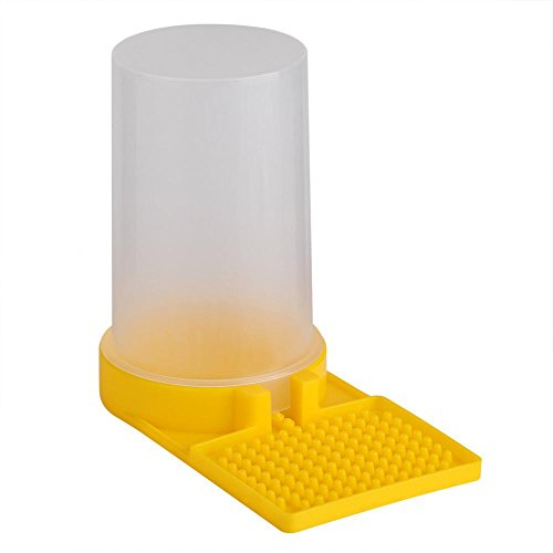 GLOGLOW (Pack of 2) Bee Feeder Beehive Drinking Entrance Bowl Plastic Bee Keeping ()