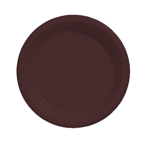 (Creative Converting Touch of Color 20 Count Plastic Banquet Plates, Chocolate Brown)