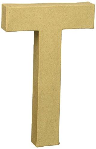 Craft Ped Paper CPL1006251-T.K Mache Letter T Kraft, 8
