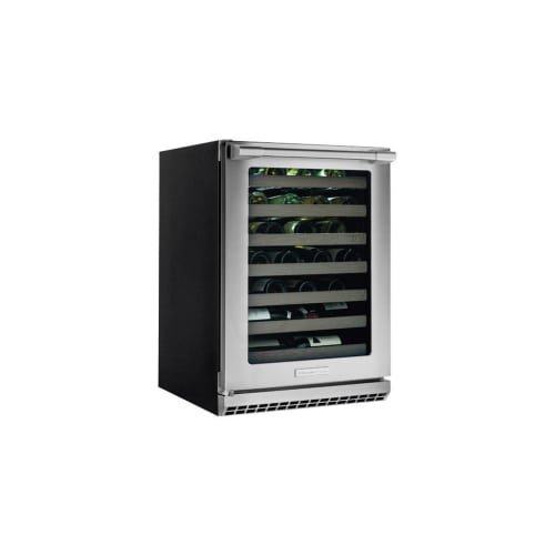 Electrolux Icon E24WL50QS Professional Under-Counter Wine Cooler with Left Hinge, PureAdvantage Air Filtration, UV Filtered Glass Door, Signature Blue LED Display and 48-Bottle Capacity, in Stainless Steel