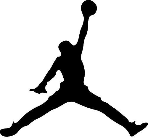 Michael Jordan Jumpman Auto Car Decal Sticker Vinyl Black