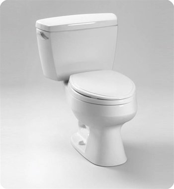 Toto CST716DB 1.6GPF Two-Piece Elongated Toilet with Bolt Down Tank and Insulated Tank (Less S, ()