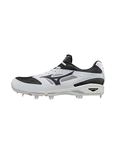 Image of the Mizuno Men's Dominant IC Baseball Shoe, White/Black, 12 D US