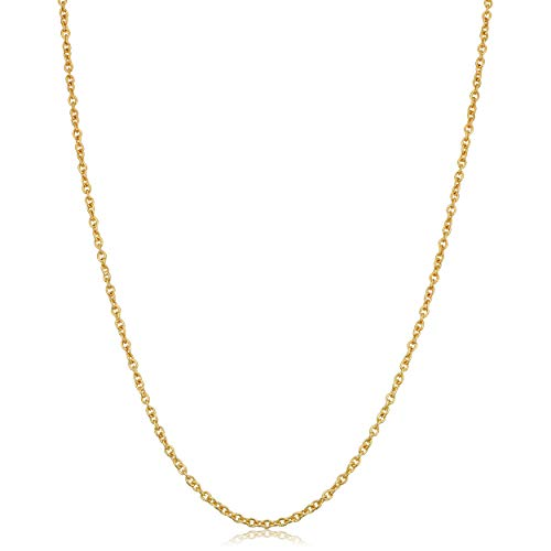 Filled Cable - Kooljewelry 14k Yellow Gold Filled Cable Chain Necklace (1.4 mm, 16 inch)