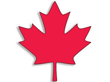 GHaynes Distributing Magnet Maple Leaf Shaped Magnet(Canada Canadian Decal Flag Logo) 3.5 x 4 inch