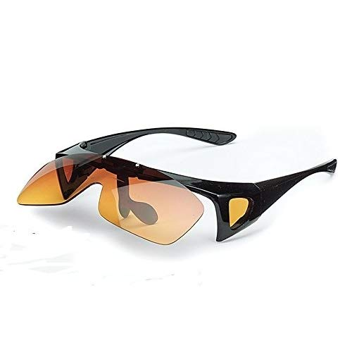 Flip-Up Fit-Over Sunglasses (Yellow) by Mail Order Direct (Image #2)