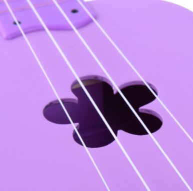 Ukulele 21 Inches Soprano Wooden with Gig Bag for Kids Students and Beginners, Purple