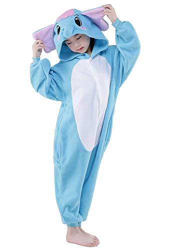 Halloween Children Elephant Onesies Costumes (Blue Elephant,115#) -