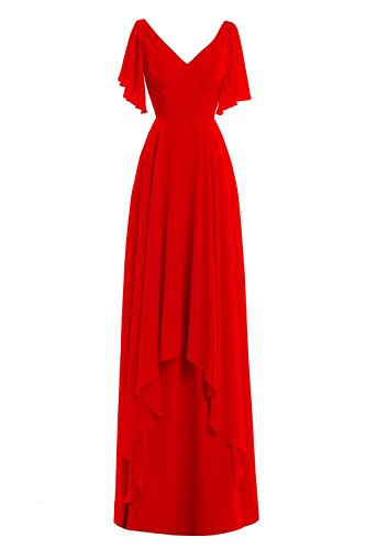 Bride V Bridal Gowns Red Formal Neck Bess of Dress Evening Women´s Mother the q1CSxE4