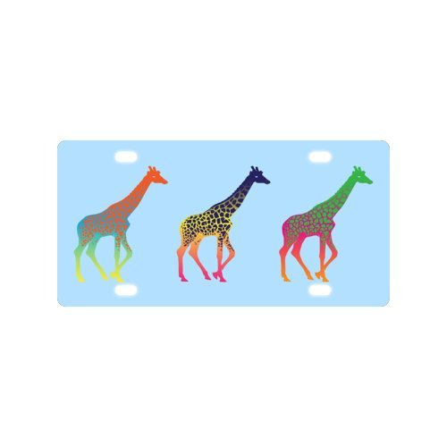 giraffe License Plate with Durability and Strength -12