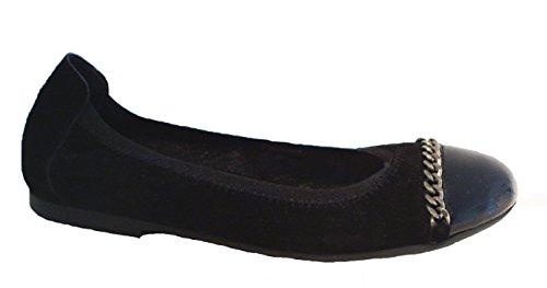 Acebos Leder Ballerinas Flats schwarz