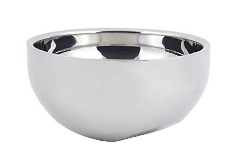Bon Chef 61267 Stainless Steel Angled Double Wall Bowl, 2-3/8 Quart Capacity, 9