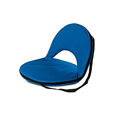 Bright Blue 5-Position Folding Chair with Adjustable Strap for Kids and Adults Comfortable Seat for Ground and Floor 20''L x 9.5''H: Toys & Games