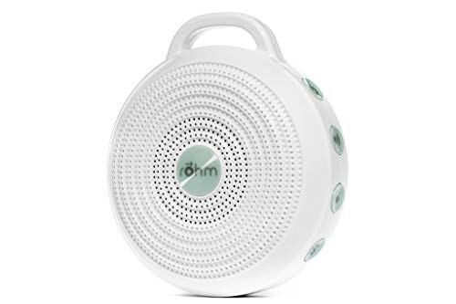 31Icb8 345L - Marpac Rohm Portable White Noise Machine for Travel | 3 Soothing, Natural Sounds with Volume Control | Compact Sleep Therapy for Adults & Baby | USB Rechargeable | Lanyard for Easy Hanging