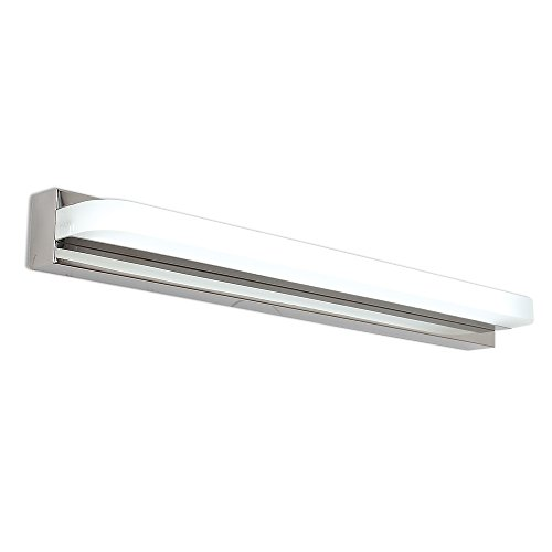 led Bathroom Vanity Lights Bath Mirror Lamps Wall Lights Long Shade Stainless Steel Fixtures (14W 25.5'' Length) by JINGJIA