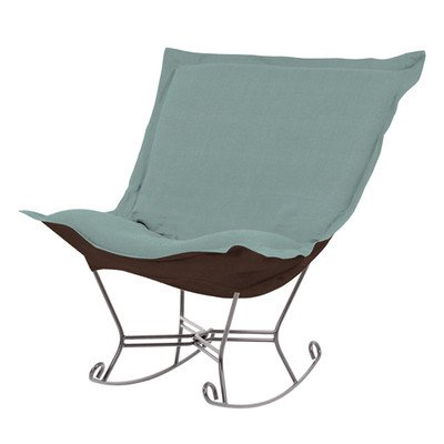 Howard Elliott 600-200 Scroll Puff Rocker with Titanium Frame, Sterling Breeze (Chair Puff Rocker Scroll)
