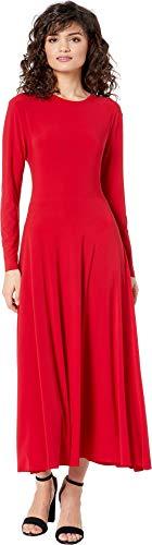 KAMALIKULTURE by Norma Kamali Women's Long Sleeve Flared Dress Red X-Small ()