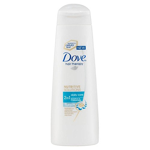 (Dove Hair Therapy Nutritive Solutions Daily Care 2in1 Shampoo & Conditioner (250ml) - Pack of 2)