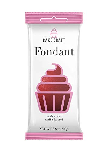 Cake Craft Rolled Fondant Ruby Red 8.8 Ounces -