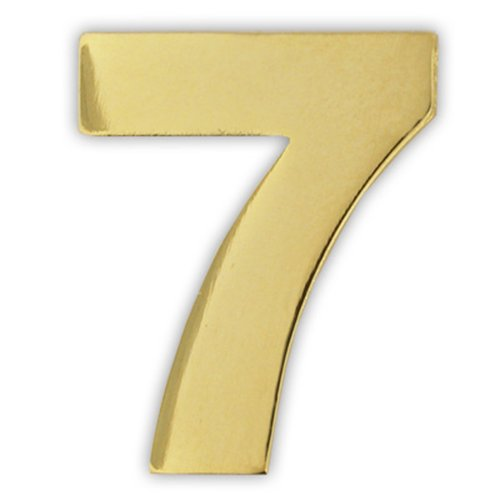 PinMart's Gold Numerical Number Seven # 7 Lapel Pin by PinMart