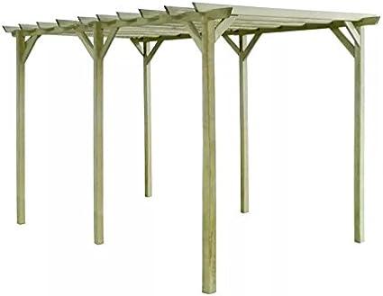 Gran estructura de jardín al aire libre madera Arbour Gazebo patio pérgola arco coche puerto escalada plantas rosas apoyo enrejado pequeño pared parasol refugio techo patio decoración Kit rústico forma muebles: Amazon.es: