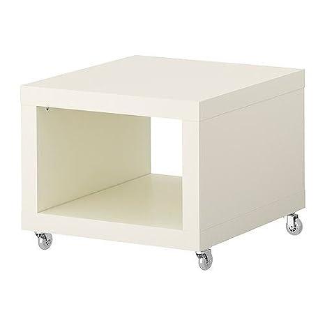 Tavolo Con Ruote Ikea.Elisa8 Lack Tavolino Su Ruote Bianco Helena Svensson Amazon