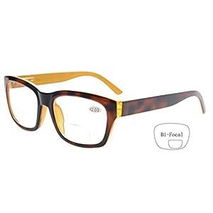 Eyekepper Polycarbonate Large Lens Line Bifocal Glasses Readers Men Brown +2.0