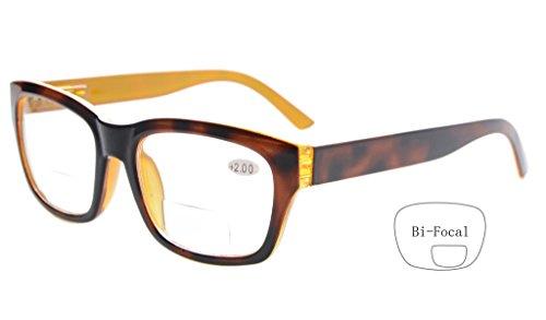 Eyekepper Polycarbonate Large Lens Line Bifocal Glasses Readers Men Brown - Glasses Line