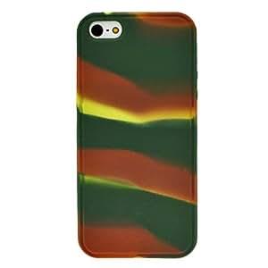 TY- Camuflaje de sílice caso gel suave para el iphone 5/5s