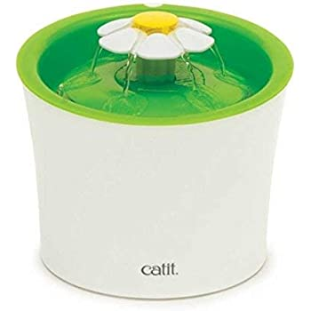 Catit Flower Fountain: 3L Drinking Fountain with Triple-Action Filter