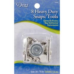 "Bulk Buy: Dritz Heavy Duty Snap Kit 5/8"" 8/Pkg Nickel 14008 (6-Pack)"