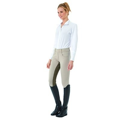 Ovation Euro Pull On Tights - Ladies Full Seat - Size:Large Color:Storm