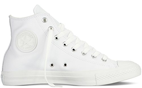 Converse Men's All Star Chuck Taylor Leather Hi White Basketball Shoe 13 Men US Converse Chucks Hi