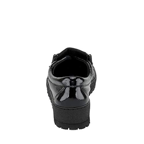 Leather Mephisto Black Shoes Lady Patent Womens 1qwArtq