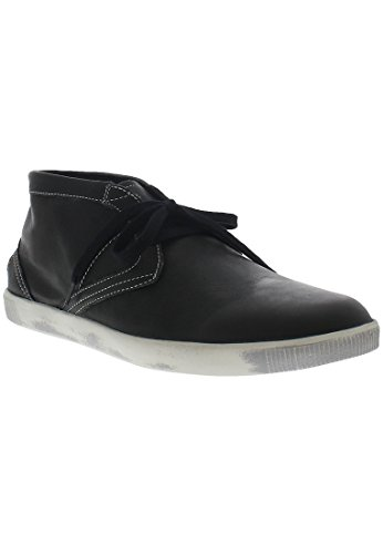 Softinos Herren Tim Smooth Hohe Sneaker Schwarz (Black)