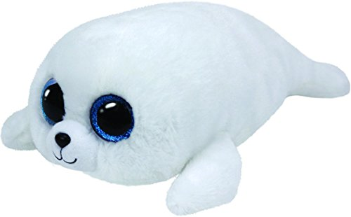 Ty Icy Seal Plush, White, (Beanie Boo Seal)