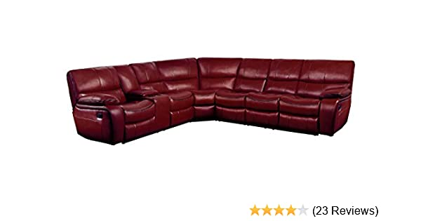 Amazon Com Homelegance Pecos 4 Piece Reclining Sectional Sofa With