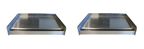 Little Griddle SQ180 Universal Griddle for BBQ Grills, Stainless (Formerly the Sizzle-Q) (Pack of 2) by Little Griddle