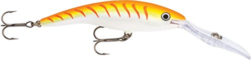 Rapala Deep Tail Dancer 11 Fishing Lure, Orange Tiger UV, 4-3/8-Inch For Sale