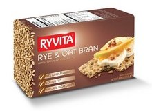Ryvita Whole Grain Rye and Oat Bran Crispbread - Cracker, 8.8 Ounce - 10 per (Ryvita Whole Grain)